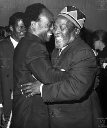 Kenyatta with Nkurumah