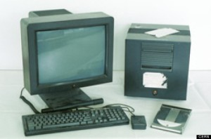 The NeXT computer used by Tim Berners-Lee in 1990 to create the world's first website.